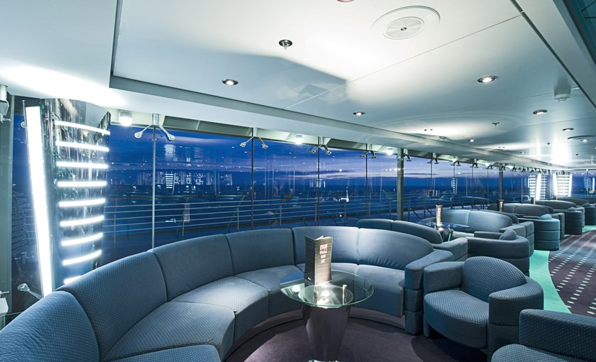 Discotheek Club Blue van MSC Cruises