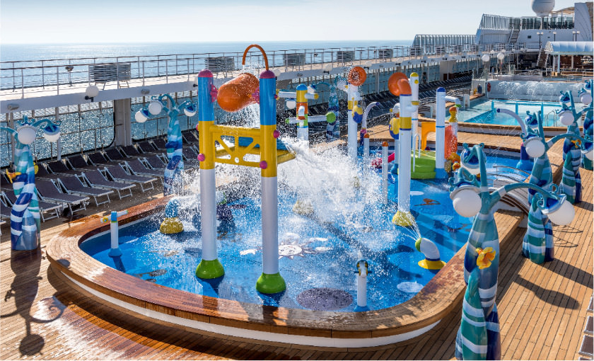 Waterpark van MSC Opera