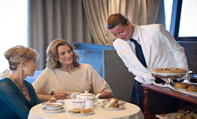 Oceania Cruises high tea