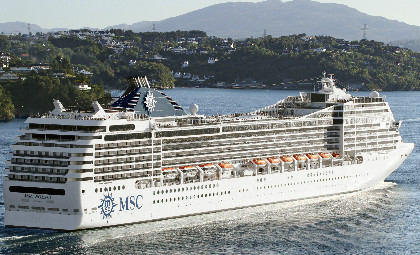 Cruiseschip MSC Poesia van rederij MSC cruises