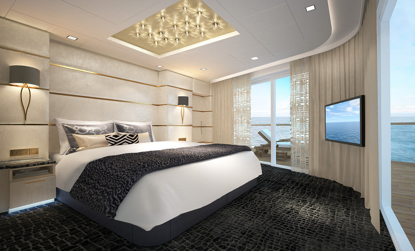 Haven deluxe owner suite op de Norwegian Bliss