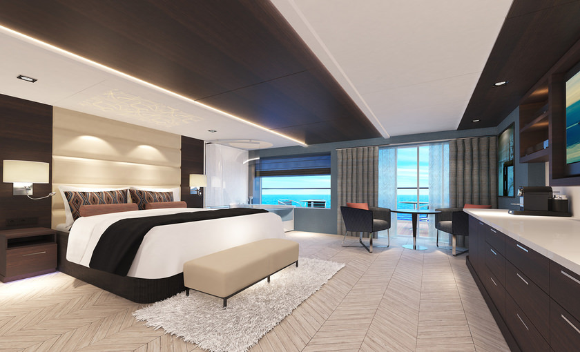 Haven spa suite op de Norwegian Bliss