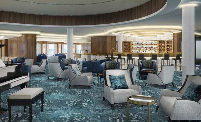 Atrium bar op de Norwegian Bliss