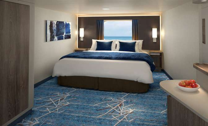Oceanview hut op de Norwegian Bliss